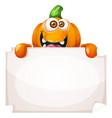 cute funny pumpkin characters advertisement vector image