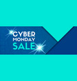 cyber monday sale banner template vector image vector image