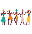 dancing african aboriginal women female african vector image