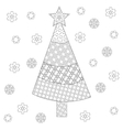 Decorative ornamental Christmas tree with artistic vector image vector image