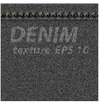 Denim fabric texture vector image