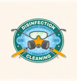 disinfection and cleaning services patch badge vector image