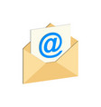 e-mail symbol flat isometric icon or logo 3d vector image