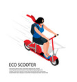eco scooter isometric vector image