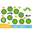 education paper game for children caterpillar vector image vector image