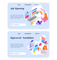 employee profile and cv resume job opening vector image vector image