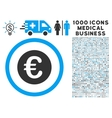 Euro Coin Icon with 1000 Medical Business vector image vector image