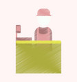 flat icon in shading style seller of movie tickets vector image vector image