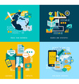Flat Style UI icons for infographics vector image vector image