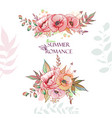 flowers summer romance vector image vector image