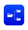 folders structure icon digital blue vector image vector image