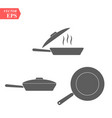 frying pan icon concept for design eps 10 vector image