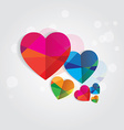 Geometric love hearts vector image