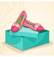 Glamour womans pink ballet flats vector image vector image