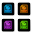 glowing neon wma file document icon download wma vector image vector image