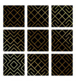 golden abstract geometric pattern backgrounds set vector image vector image