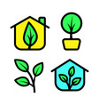 greenhouse icon set vector image vector image
