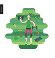 gym - girl exercising vector image vector image