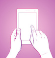 Hand Touch Tablet Gesture vector image