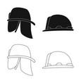 headwear and cap icon vector image