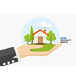 Home insurance business service concept of vector image vector image