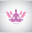 indian yoga lotus logo vector image vector image