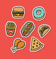 junk food sticker good for print design vector image