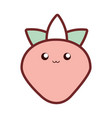 kawaii strawberry vector image vector image
