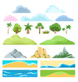 landscape cartoon constructor vector image