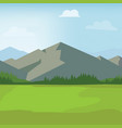 landscape view mountains forest and green vector image
