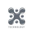 logo molecular blot in the form x vector image vector image