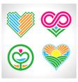 love logo symbol vector image vector image