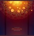 lovely mandala art pattern background vector image vector image