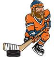 lumberjack sports logo mascot hockey vector image vector image