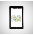 map mobile phone navigation vector image vector image