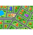 map suburb or little town vector image vector image