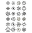 mega set of small circle lace design elements vector image vector image