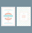 merry christmas greeting card template vector image vector image