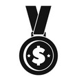money gold medal icon simple style vector image