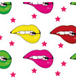 mouth cartoon background vector image vector image