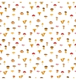 Mushrooms seamless texture with autumn pattern vector image