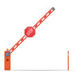 open barrier icon vector image vector image