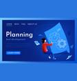people fly around blueprint scheme planing vector image