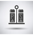 Pepper and salt icon vector image vector image