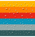 Rain Water Drops on Retro Colorful Background vector image