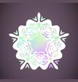 round rainbow gradient mandalas floral vector image vector image