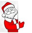 Santa blank sign vector image