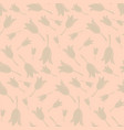 seamless floral pattern with beige tulip flowers vector image