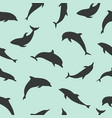 seamless pattern with dolphins dolphin vector image
