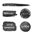 set grunge watercolor hand drawn background vector image